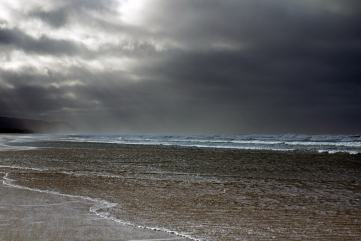 photo of storm clouds off the coast of Oregon