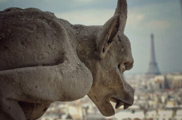 photo of gargoyle in Paris
