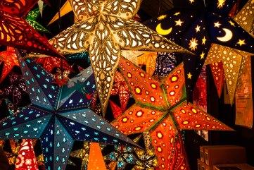 photo of illuminated paper stars