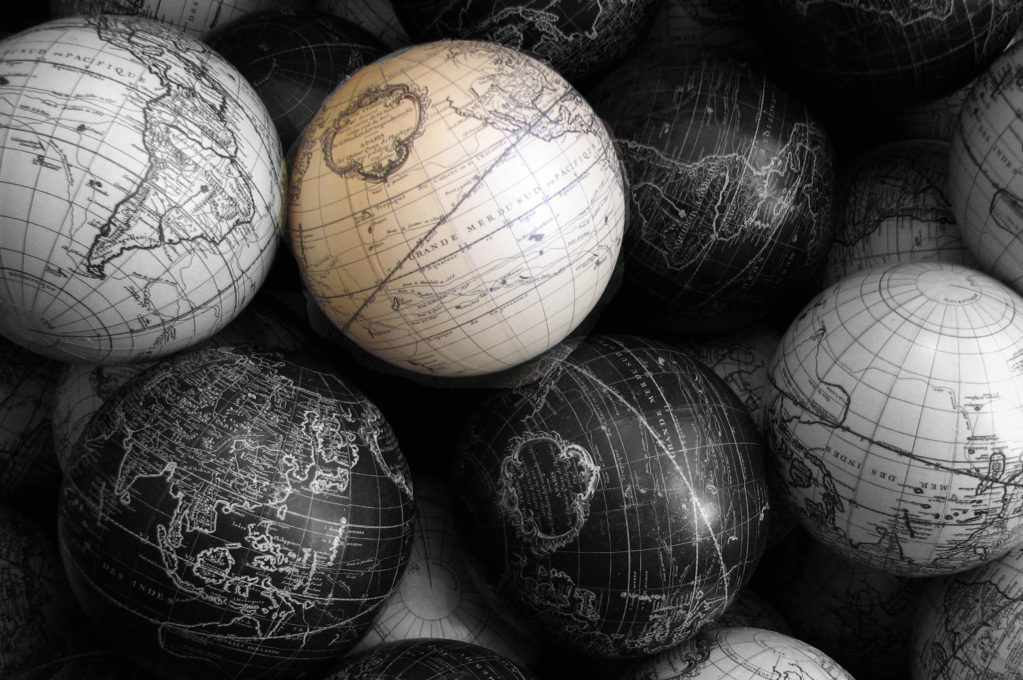 photo of old globes
