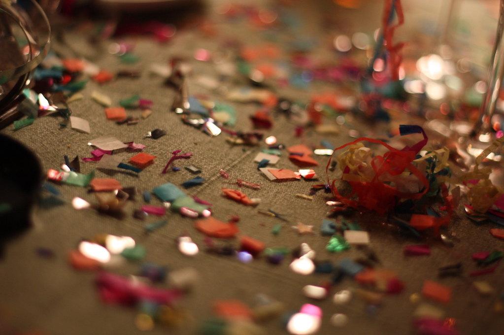 photo of confetti