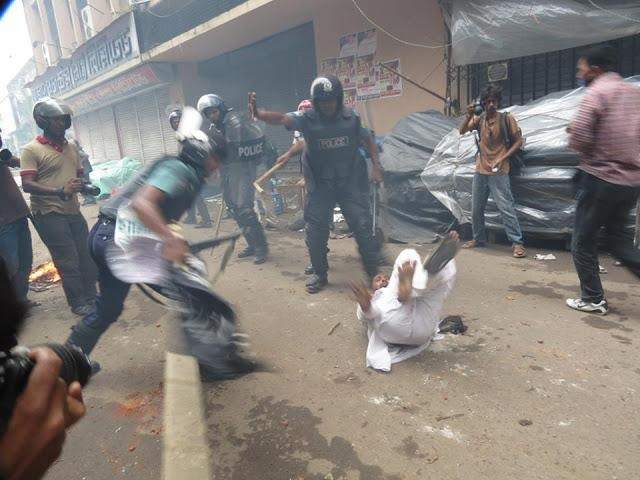 protesters were attacked by a now established alliance of police and government aligned thugs