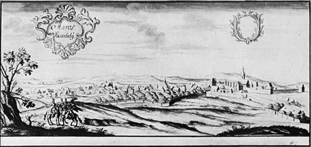 Cetatea medievală la 1735