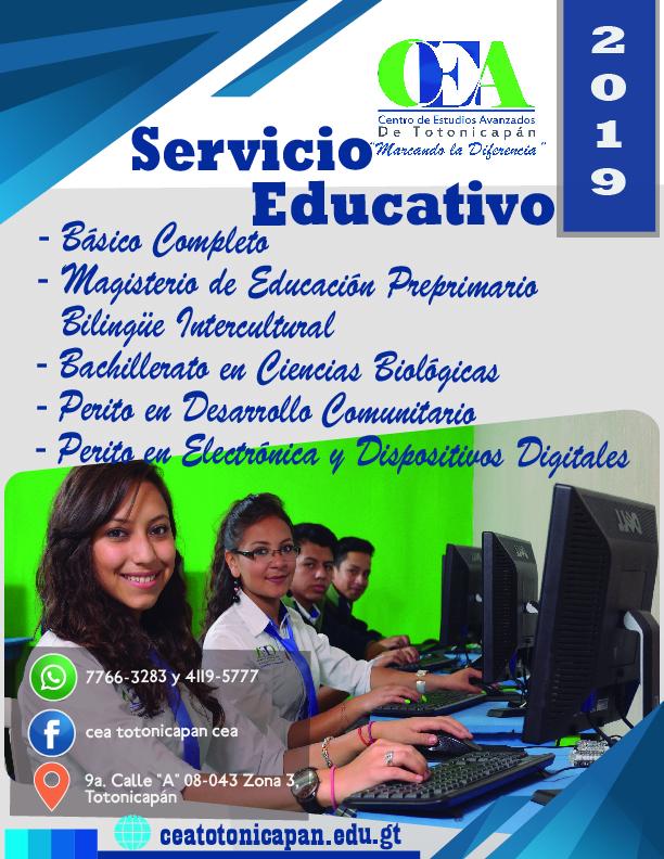 Servicio Educativo 2019