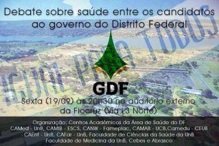 Debate com candidatos ao Governo do DF amanhã