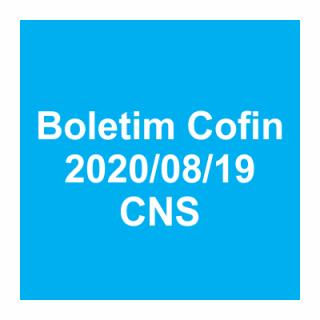 Boletim Cofin 19/08/2020