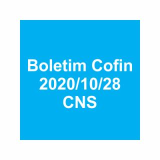 Boletim Cofin 2020/10/28