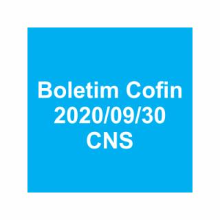 Boletim Cofin 2020/09/30