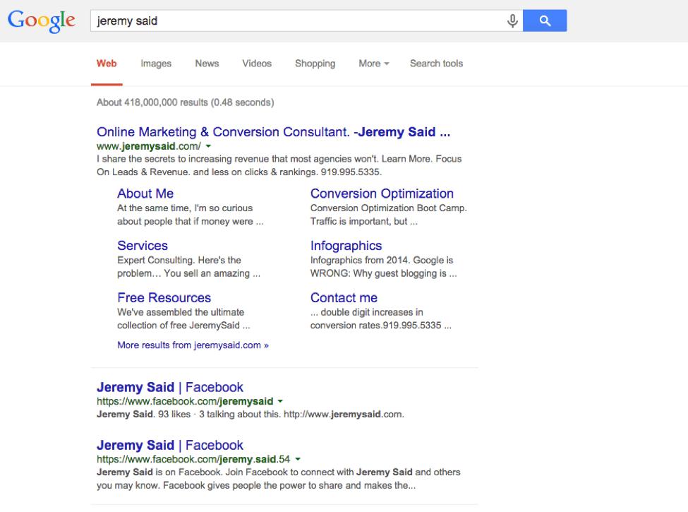 JeremySadi SERP query