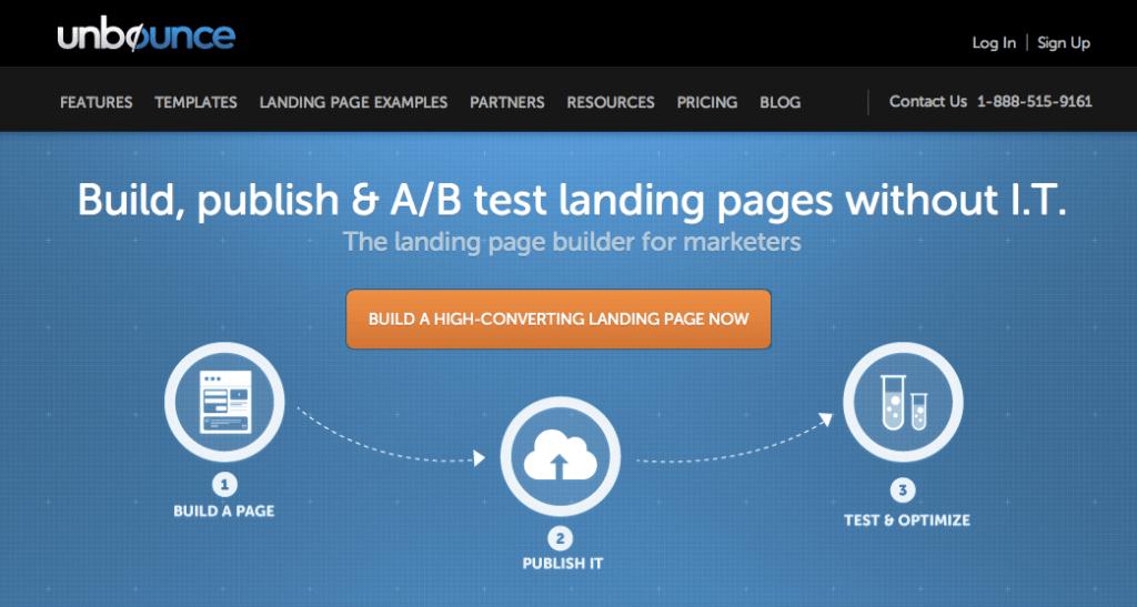 unbounce landing pages