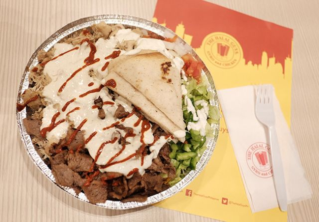 A gyro and chicken platter from The Halal Guys, the New York-based food cart that opened a branch in SM Megamall in October. (INQUIRER FILE)