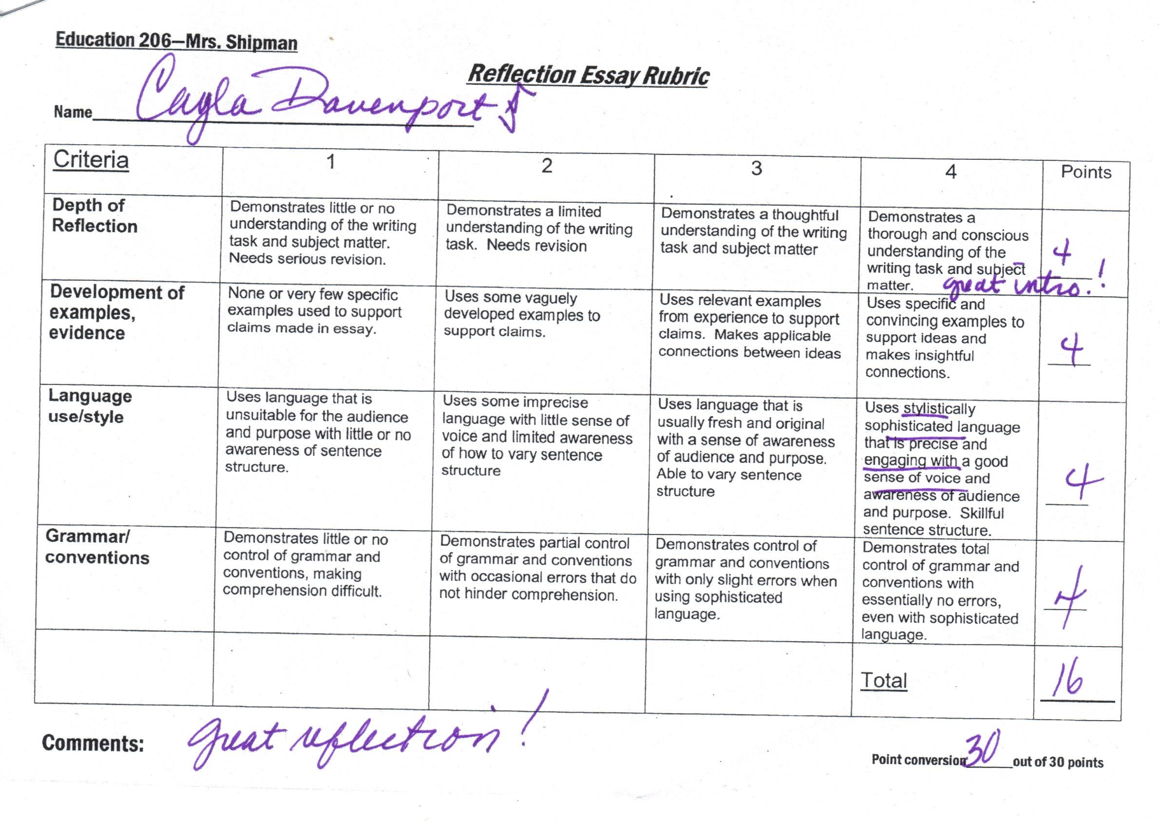 Persuasive Essay Grading Rubric High School