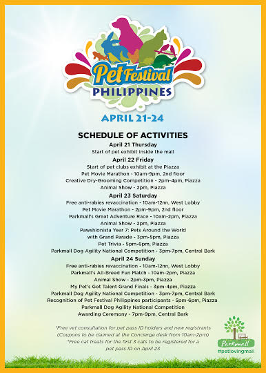 The Pet Festival in Cebu this summer at Parkmall | Cebu Finest