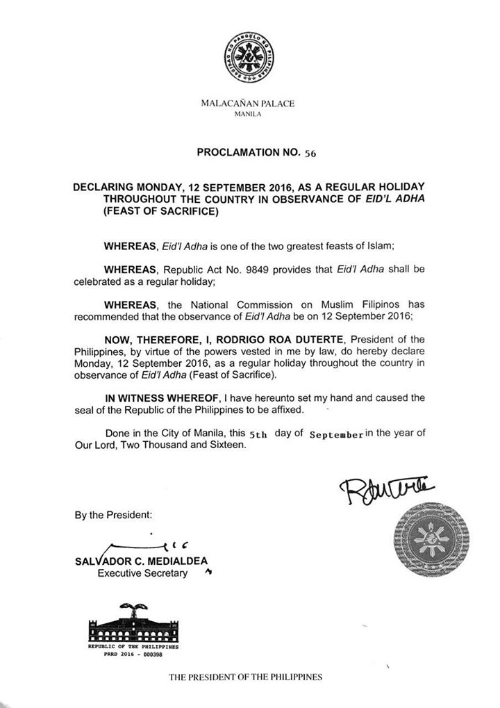 A very long weekend for Cebu, September 12 also a holiday to celebrate Eid'L Adha (Feast of Sacrifice) | Cebu Finest