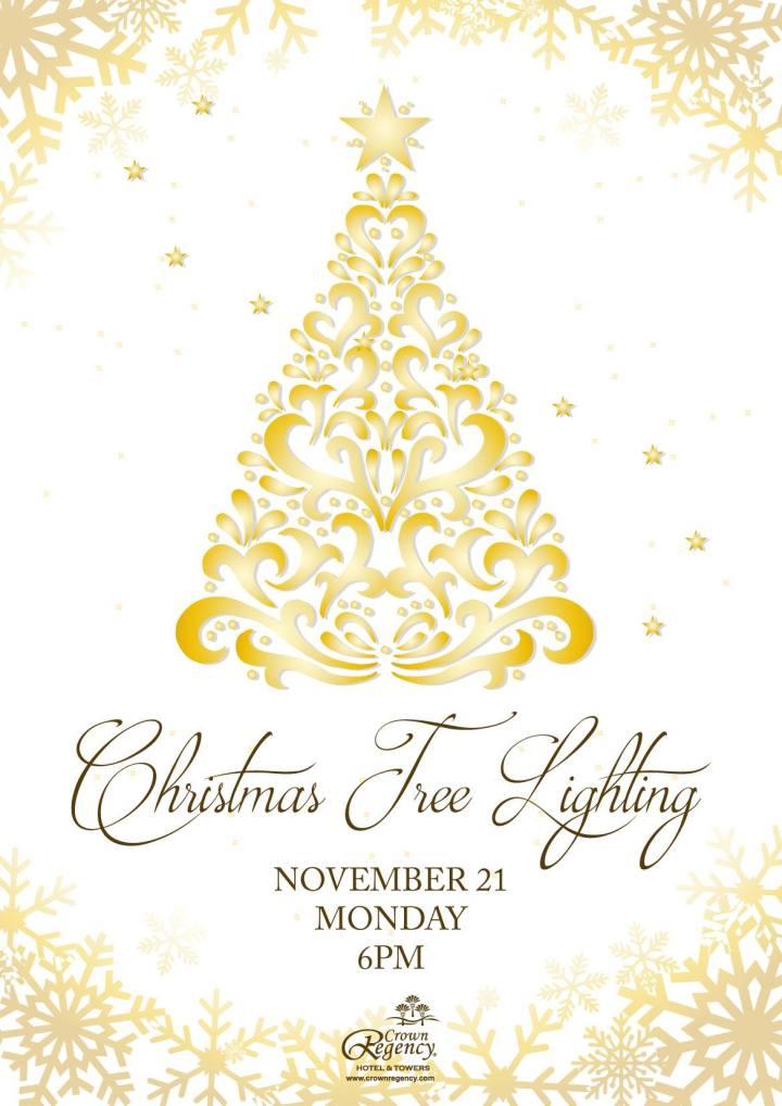 Christmas Tree Lighting at Crown Regency Hotel & Towers   Cebu Finest