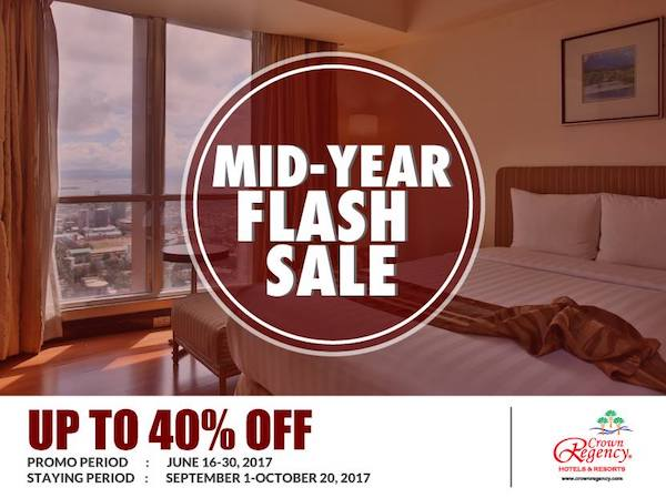 Crown Regency Mid-Year Flash Sale: Book Now, Pay Less Promo | Cebu Finest