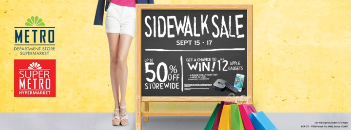 The 3-day Metro Sidewalk Sale offers up to 50% storewide discount in Cebu this September | Cebu Finest