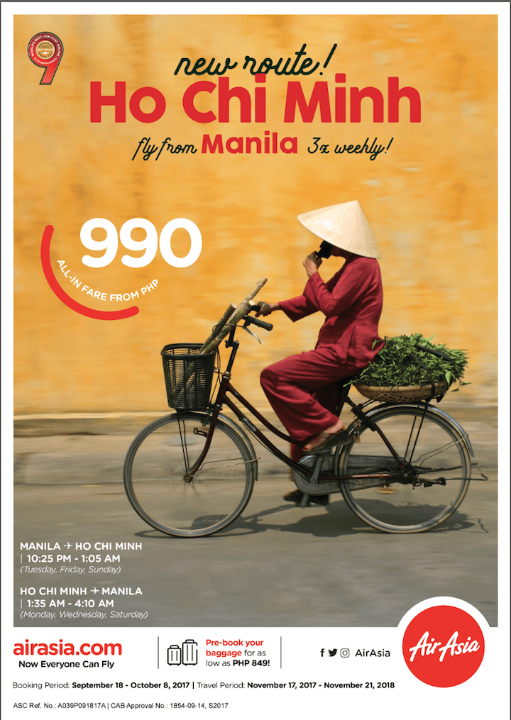AirAsia now offers flights from Manila to Ho Chi Minh in November | Cebu Finest