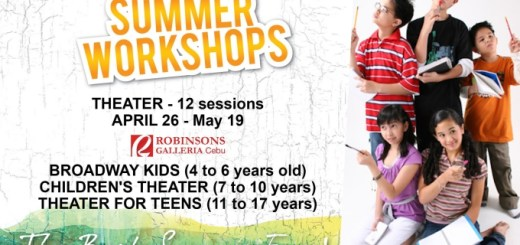 Summer Theater Workshops at Robinsons Galleria Cebu | Cebu Finest