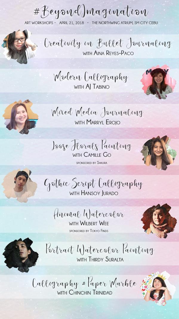 Scribe #BeyondImagination Art Workshops in Cebu this summer | Cebu Finest
