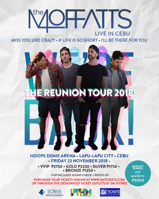 The Moffatts Live Concert in Cebu for Reunion Tour 2018 | Cebu Finest