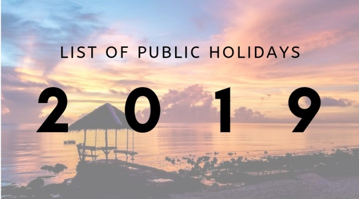Save The Dates: 2019 Public Holidays in the Philippines | Cebu Finest
