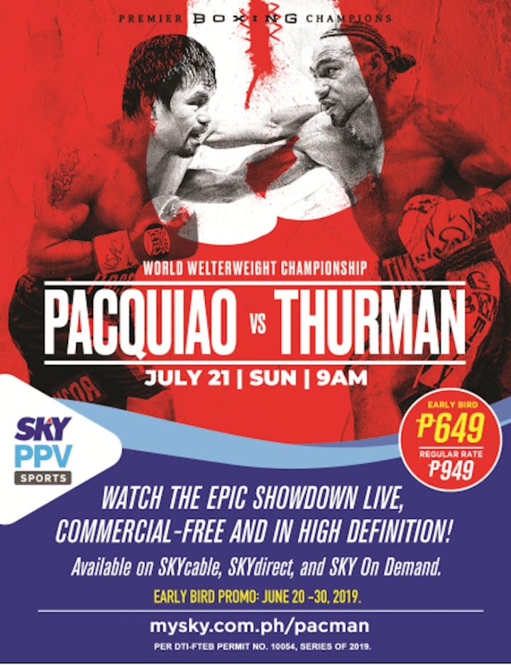 Pacquiao vies for WBA Super Welterweight Belt vs Thurman at SKY | Cebu Finest
