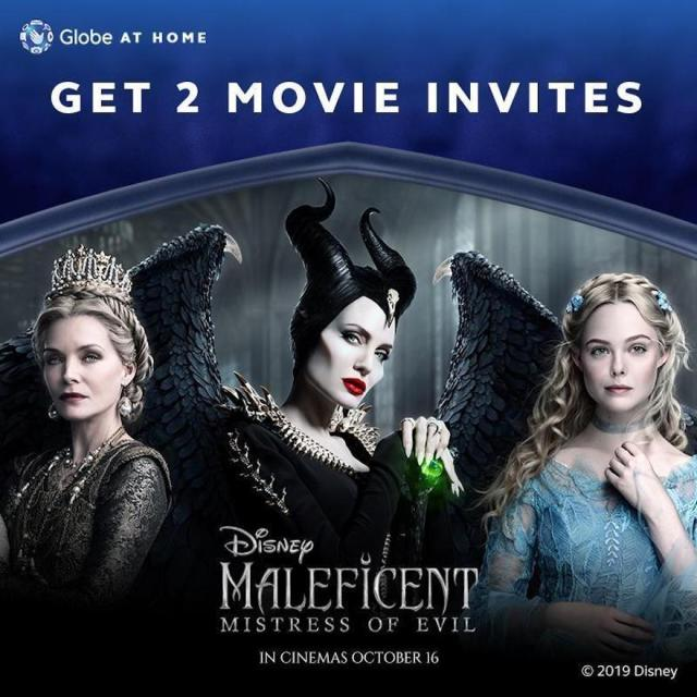 """Score Movie Passes for the Family to Watch Disney's """"Maleficent: Mistress of Evil"""" with Globe At Home Postpaid 