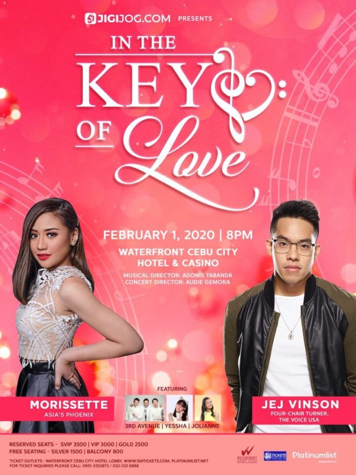 "Morissette and Jej Vinson to hold pre-Valentine ""In the Key of Love"" concert in Cebu 