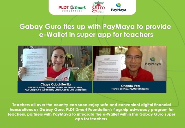 Gabay Guro, the flagship advocacy program for teachers of the PLDT-Smart Foundation, partners with PayMaya for its super app for teachers | CebuFinest