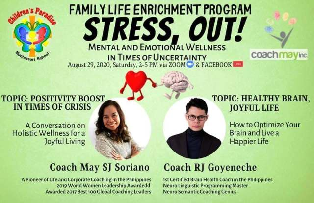 CPMS Holds Free Webinars on Managing Stress and Mental Wellness   CebuFinest
