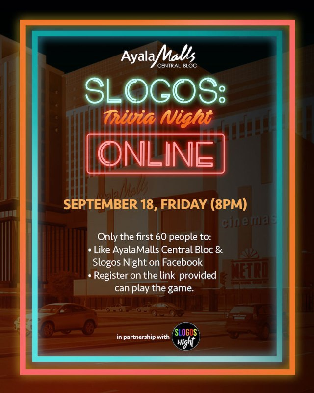 AyalaMalls Central Bloc is the first and only mall that has partnered with Cebu's well-loved trivia group, Slogos Night | CebuFinest