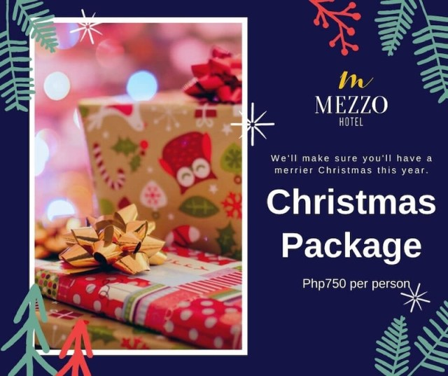 Avail of Mezzo Hotel's Christmas Package for only ₱750 per person. | CebuFinest