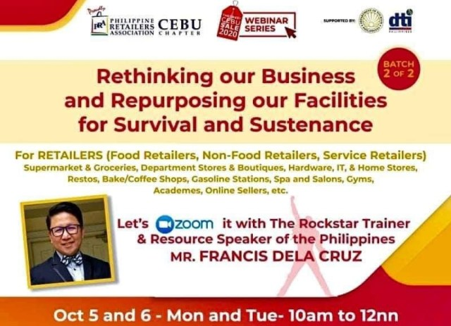 """""""Rethinking our Business and Repurposing our Facilities for Survival and Sustenance #Diskarte"""". 