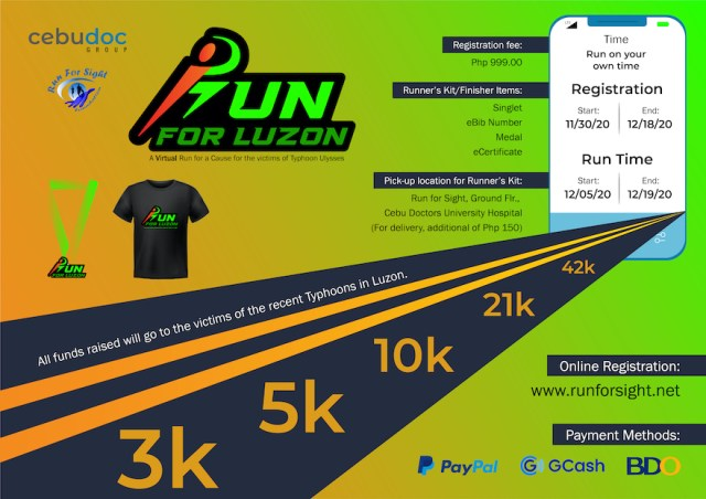 Run for Sight Foundation and CebuDoc Group launches iRun for Luzon – a Virtual Run for a Cause for Typhoon Victims | CebuFinest