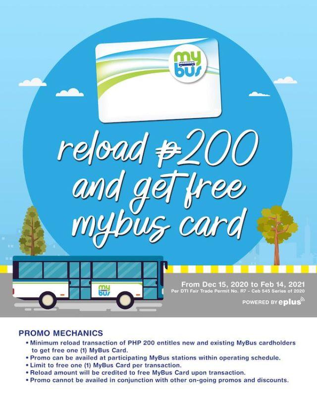 Free MyBus Card - Per DTI Fair Trade Permit No. R7 – Ceb 545 Series of 2020.   CebuFinest