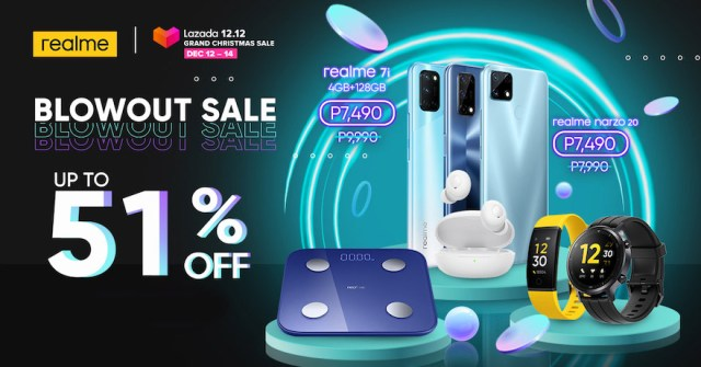 realme Philippines joins Lazada 12.12 Grand Christmas Sale with huge discounts of up to 51% | CebuFinest