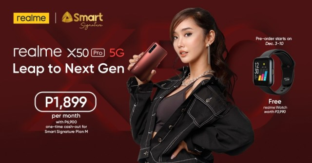 Smart Signature Device Plan with realme X50 Pro 5G | CebuFinest