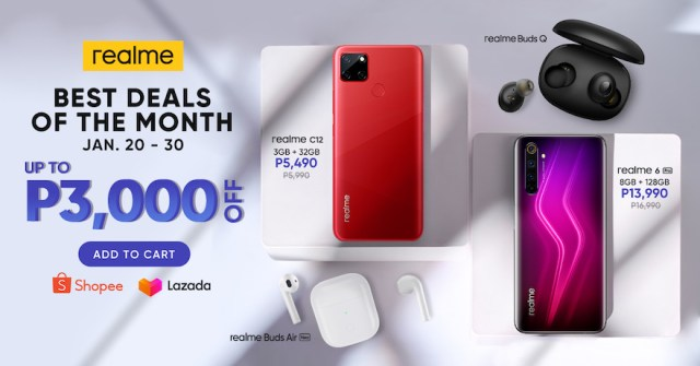 realme kickstarts the year  with the best deals of the month | CebuFinest