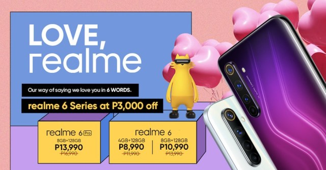 The realme 6 Series smartphones now less Php 3,000 starting this February | CebuFinest