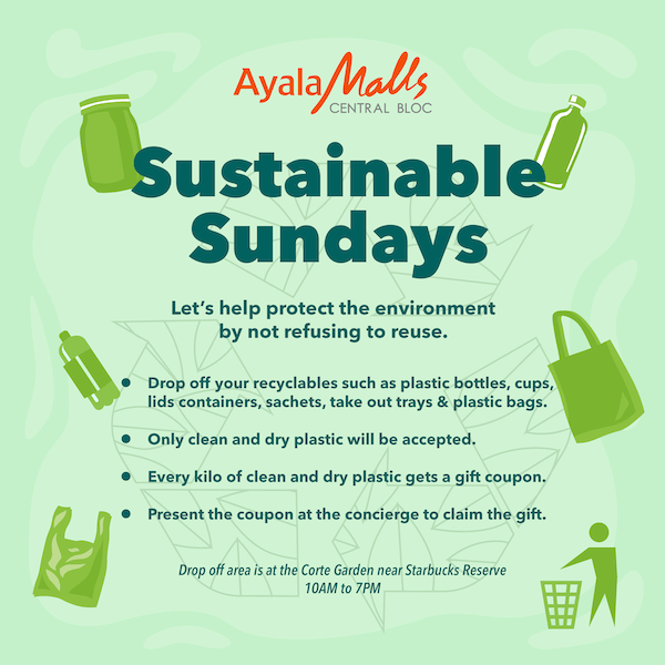 Three effortless ways to practice Sustainable Sundays at Ayala Malls Central Bloc | CebuFinest