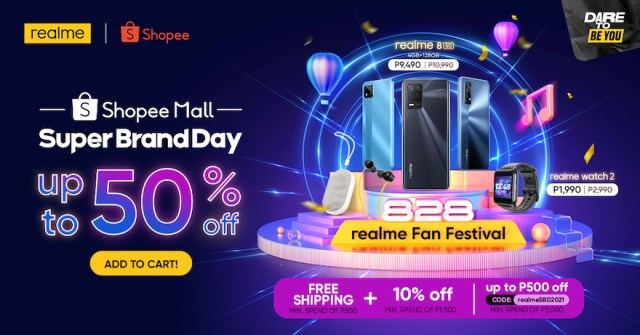 Get the biggest discounts and deals of up to 50% OFF in realme's Shopee Super Brand Day Sale | CebuFinest