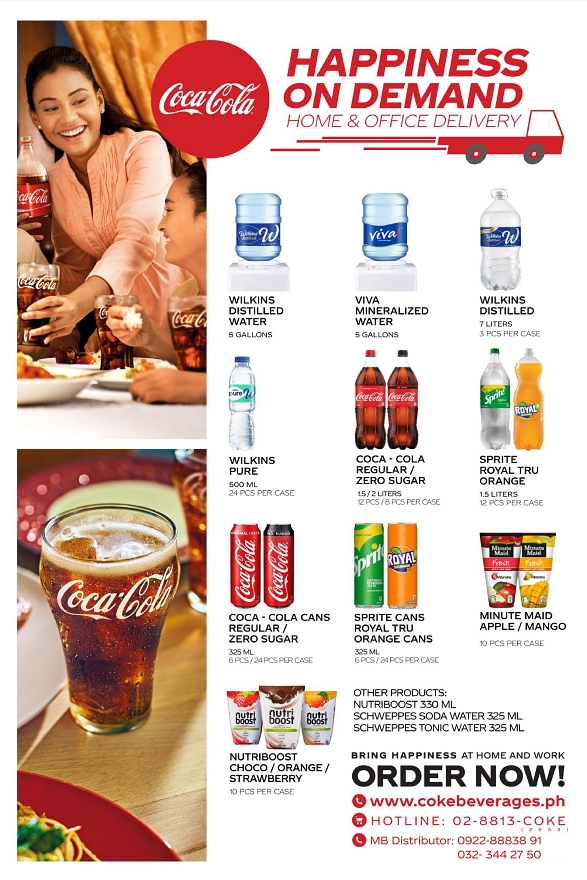 Coca-Cola's Happiness on Demand Delivery Service | CebuFinest