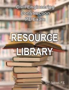 Civil Engineering Construction PE Exam Resource Library
