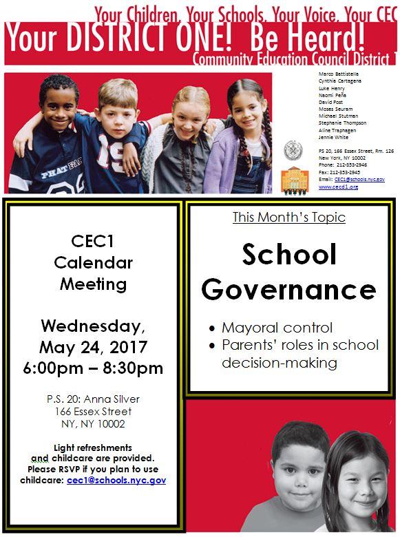 CEC1 Flyer 5.24.17 School Governance