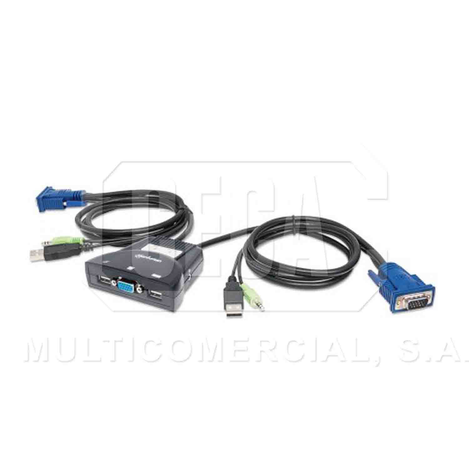 Kvm Switch Mht 2 Pts Usb Y Audio 3 5mm Multicomercial S A