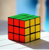 Rubik's cube in sunlight