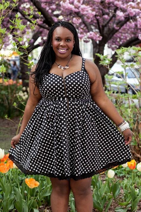 CeCe Olisa Plus Size Polka Dot Dress Fashion