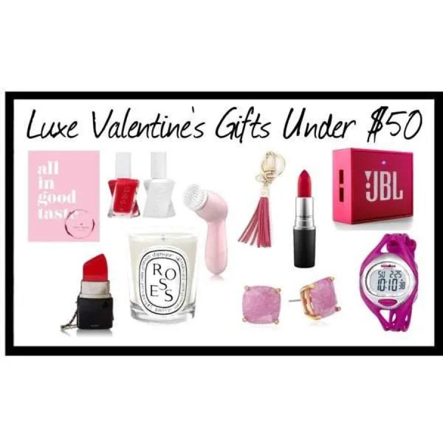 Luxe Valentines Gift's Under 50