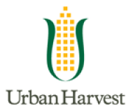 Urban Harvest logo--ear of corn reminiscent of city hall